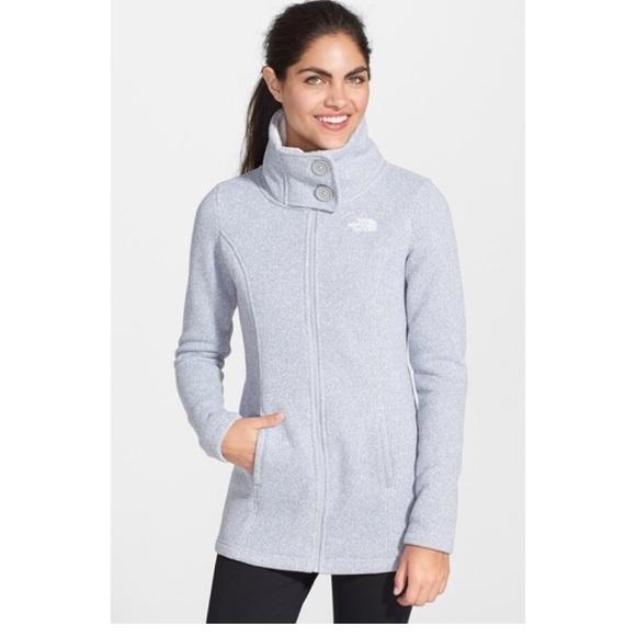North Face Lunabrooke Sweater Jacket Gray Medium